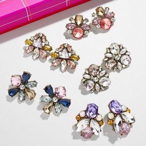Five piece multicolored earring set.